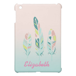 Adorable Cute  Modern Girly Feathers iPad Mini Cover