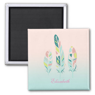 Adorable Cute  Modern Girly Feathers Magnet