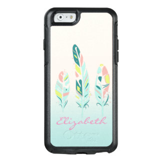 Adorable Cute  Modern Girly Feathers OtterBox iPhone 6/6s Case