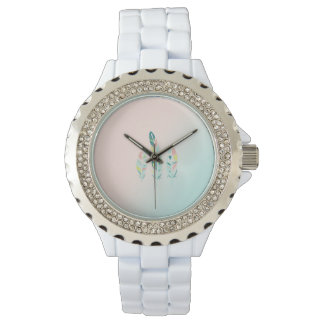 Adorable Cute  Modern Girly Feathers Watch