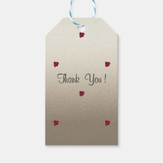 Adorable Cute , Red Ladybugs,Luminous Pack Of Gift Tags