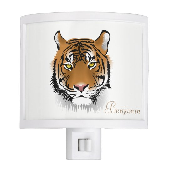 Adorable Cute Tiger-Personalized Night Lights