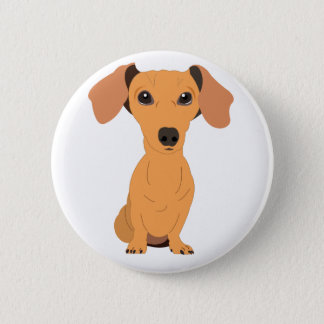 Adorable Dachshund 2 Inch Round Button