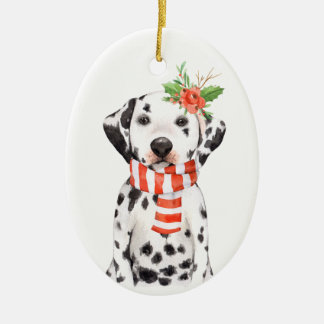 Adorable Dalmatian Puppy First Holiday Ornament
