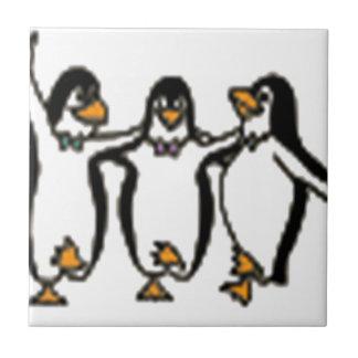 Adorable Dancing penguins design Ceramic Tile