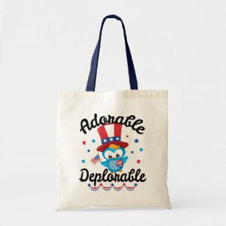 Adorable Deplorable Owl Trump 2016 Budget Tote Bag