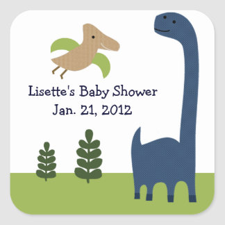 Adorable Dino/Dinosaur 3 Stickers/Envelope Seals