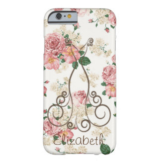 Adorable Elegant Dress,Floral Pattern-Personalized Barely There iPhone 6 Case