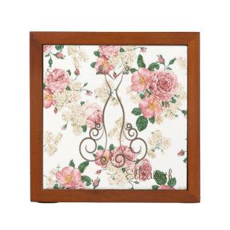 Adorable Elegant Dress,Floral Pattern-Personalized Desk Organizer