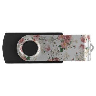Adorable Elegant Dress,Floral Pattern-Personalized USB Flash Drive