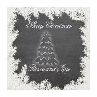 Adorable ElegantChristmas tree holiday chalkboard Canvas Print