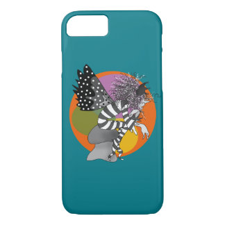 Adorable Elf Fairy Male Butterfly Turquoise Orange iPhone 8/7 Case