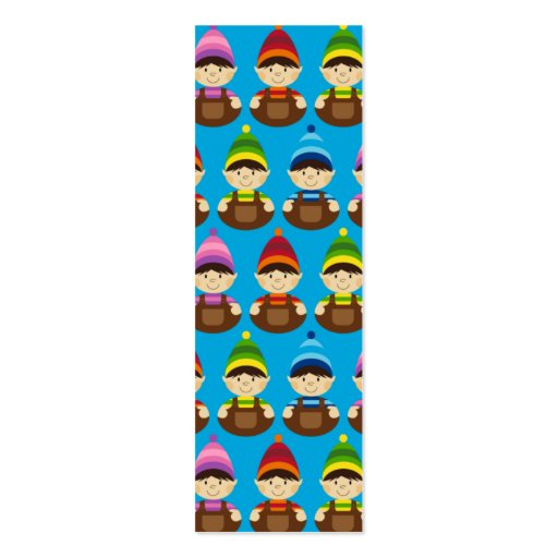 Adorable Elves Christmas Bookmark Business Card