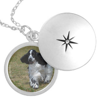 Adorable English Cocker Spaniel Silver Plated Necklace