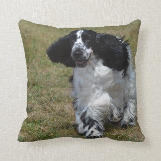 Adorable English Cocker Spaniel Throw Pillow
