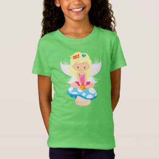 Adorable Fairy on Toadstool Print T-Shirt