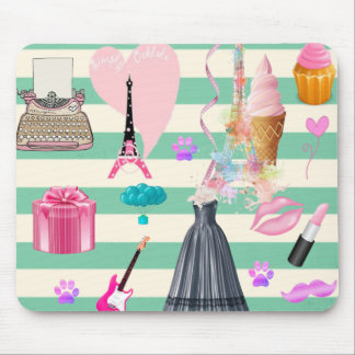 Adorable Fashion,Raris,Hearts Pattern Mouse Pad