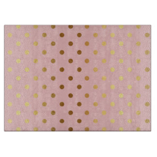 Adorable  Faux Gold Polka Dots Flowers Boards