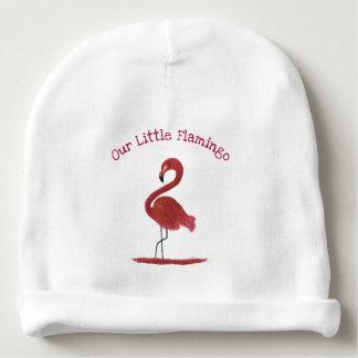 Adorable Feathery Custom Pink Flamingos Art Baby Beanie