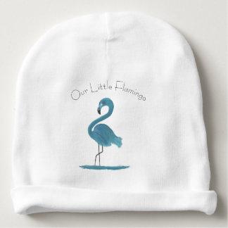 Adorable Feathery Custom Teal Flamingos Art Baby Beanie
