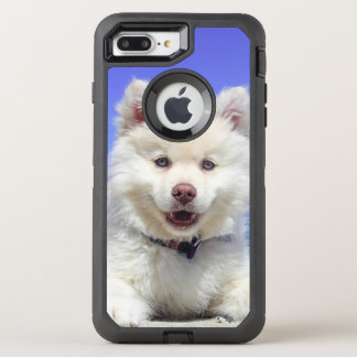 Adorable Finnish Lapphund at the beach OtterBox Defender iPhone 8 Plus/7 Plus Case
