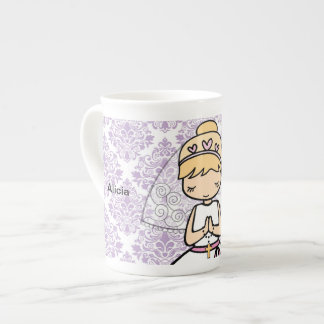 Adorable First Holy Communion little girl mug