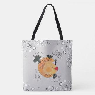 Adorable Fish Artwork Tote Bag