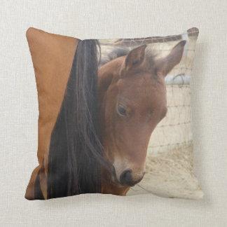 Adorable Foal Throw Pillow