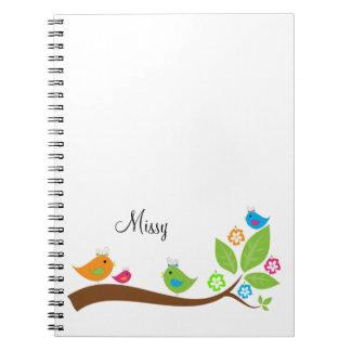 Adorable Four Little Birdies Notebook