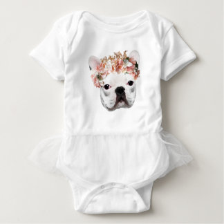 Adorable Frenchie Baby Bodysuit