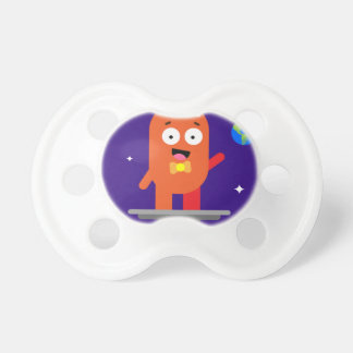 Adorable Friendly Surfing Alien Baby Pacifier