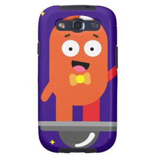 Adorable Friendly Surfing Alien Samsung Galaxy SIII Cases