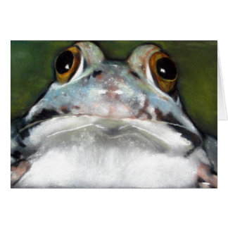 Adorable Frog: Realism Pastel Painting Card