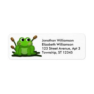Adorable Froggy Return Address Labels