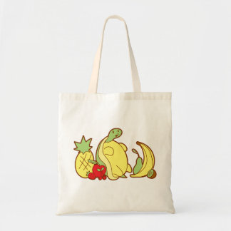 Adorable Fruit Turtle Tote Bag