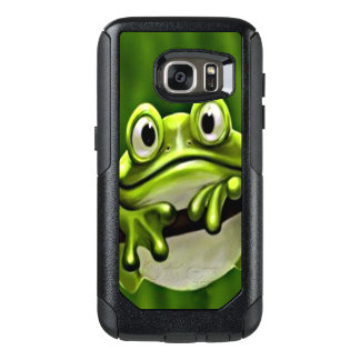 Adorable Funny Cute Green Frog In Tree OtterBox Samsung Galaxy S7 Case
