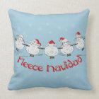 Adorable FUNNY Fleece Navidad Christmas Sheep Throw Pillow