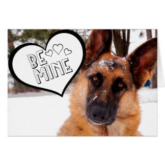Adorable German Shepherd Valentine's Day Card