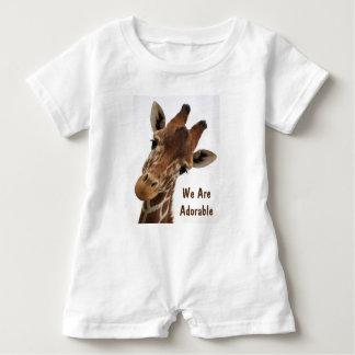 Adorable Giraffe Baby Romper