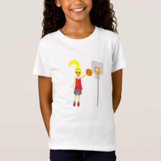 Adorable Girls Basketball T-Shirt