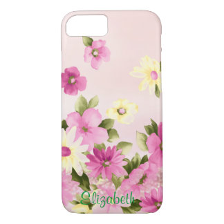 Adorable, Girly,Blooming  Flowers -Personalized iPhone 8/7 Case