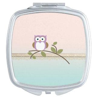 Adorable Girly Cute Owl Mirror For Makeup