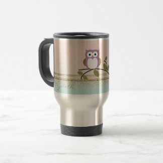 Adorable Girly Cute Owl,Personalized Travel Mug