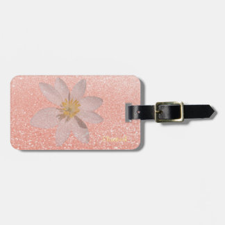 Adorable Girly,Daisy ,Glittery,Bokeh ,Personalized Luggage Tag