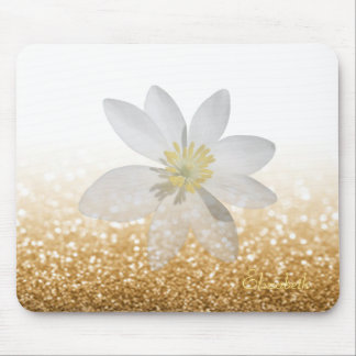 Adorable Girly,Daisy ,Glittery,Bokeh ,Personalized Mouse Pad
