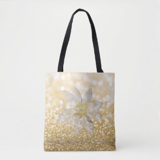 Adorable Girly,Daisy ,Glittery,Bokeh Tote Bag