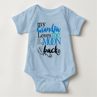 Adorable Grandpa Loves Me Up To The Moon - Baby Bodysuit