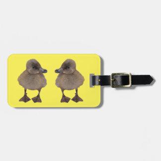 Adorable Gray Duckling Photograph Bag Tag