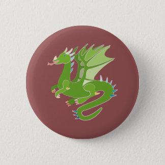 Adorable Green Dragon 2 Inch Round Button