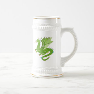 Adorable Green Dragon Beer Stein